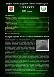 2011. május - Fizikus Tanszékcsoport - Szegedi Tudományegyetem