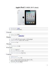 Apple iPad 2 (16GB, Wi-Fi, black) General Display Memory ...
