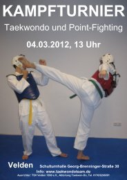 Taekwondo und Point-Fighting - Taekwon-Do Team Michele Santoro