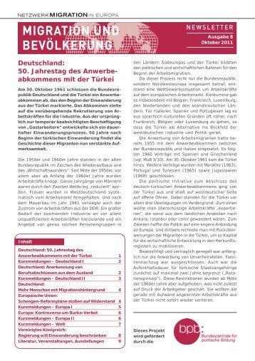 Ausgabe 8/2011 als pdf - Migration & Bevölkerung