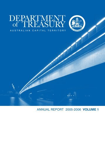 DEPARTMENT of TREASURY - Treasury - ACT Government