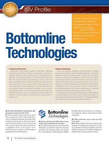 ISV Profile - Bottomline Technologies