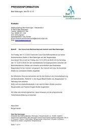 presseinformation - und Kreisstadt Bad Salzungen