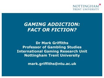 GAMING ADDICTION: FACT OR FICTION? - Subotron
