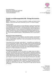 Direktiv om elektromagnetiska fält - förslag från ... - Teknikföretagen