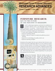 FURNITURE RESEARCH: - Mississippi State University