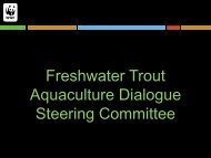 Freshwater Trout Aquaculture Dialogue Steering Committee