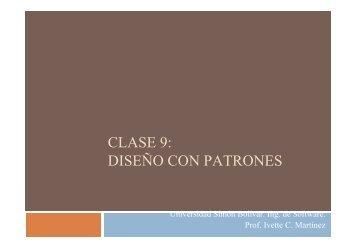 Patrones - LDC - Universidad Simón Bolívar