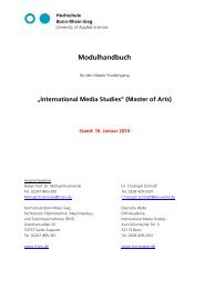 Modulhandbuch - Fachbereich Elektrotechnik, Maschinenbau und ...