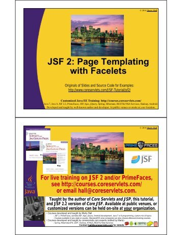 JSF 2: Page Templating with Facelets - Custom Training Courses ...