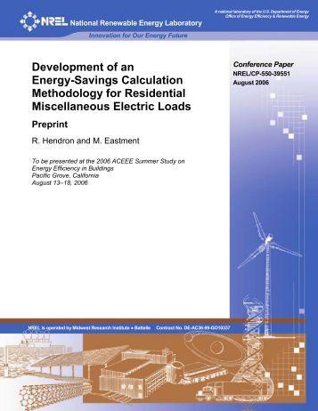 Development of an Energy-Savings Calculation Methodology for ...