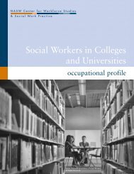 Social Workers in Colleges and Universities - Center for Workforce ...