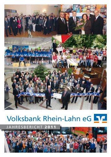 Jahresbericht 2011 - Volksbank Rhein-Lahn eG