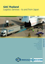 GAC Thailand Logistics Services - to and from Japan