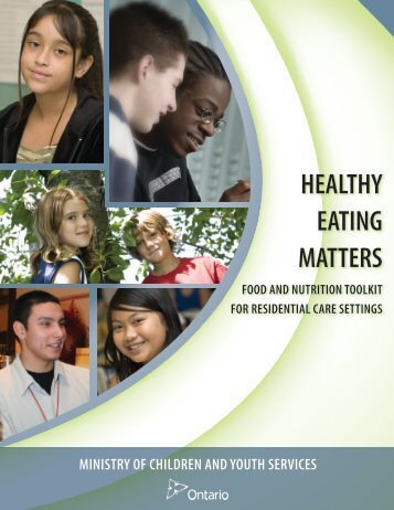 healthy eating matters - Ministry of Children and Youth Services