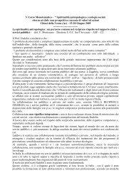 "V Corso Monotematico - "" Spiritualità antropologica e ... - Cedostar"