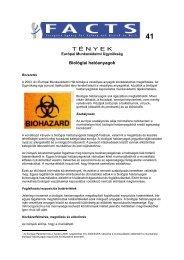 Factsheet 41 - Biológiai hatóanyagok