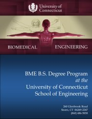 BME B.S. Degree Program at the University of Connecticut School of ...
