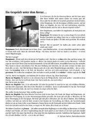 Ein Gespräch unter dem Kreuz… - Pfarrei Visp