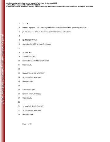 Wang, H., S. Kelkar, W. Wu, M. Chen - Journal of Clinical ...
