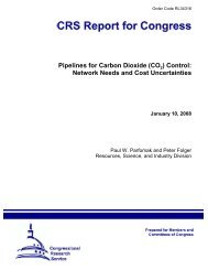 Pipelines for Carbon Dioxide (CO2) Control - National Council for ...