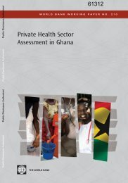 Private Health Sector Assessment in Ghana - World Bank