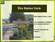Pourquoi devenir Station Verte - Comité Départemental du Tourisme ...