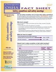 Safety committees and safety meetings