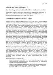 Social and Cultural Diversity - Sektion Stadt- und Regionalsoziologie