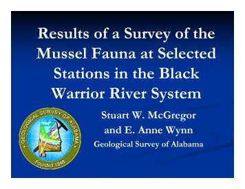 Results of a Survey of the Mussel Fauna at Selected Stations in the ...