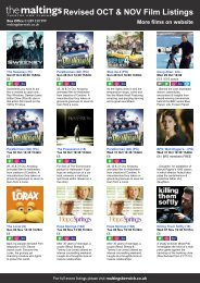 Revised OCT & NOV Film Listings More films on ... - The Maltings
