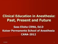 Clinical Education in Anesthesia: Learners opinions from past to ...