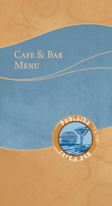 Cafe & Bar Menu - Pala Casino