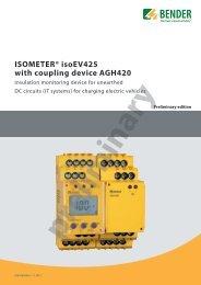 ISOMETER® isoEV425 - Bender Benelux BV