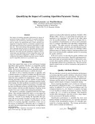 Quantifying the Impact of Learning Algorithm Parameter Tuning