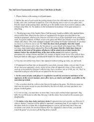 The 2nd Green Tournament at Seattle Chess Club Rules & Details 1 ...