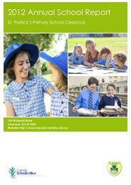 CESSNOCK St Patrick's Primary School (2012) - Catholic Schools ...