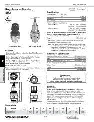 SR2 Series - Wilkerson Corporation