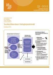 Joukkoliikenteen tietojärjestelmät - Esiselvitys - Liikennevirasto