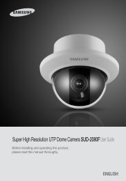 Super High Resolution UTP Dome Camera SUD ... - Samsung CCTV