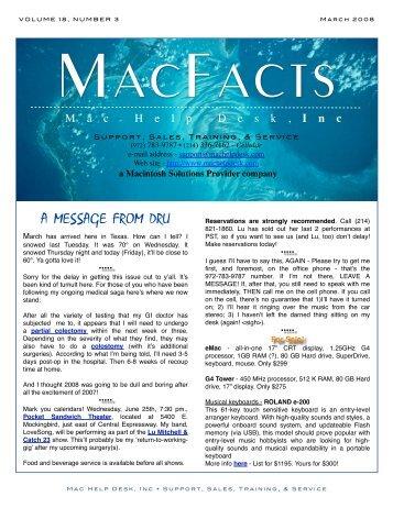 March 2008 - Mac Help Desk