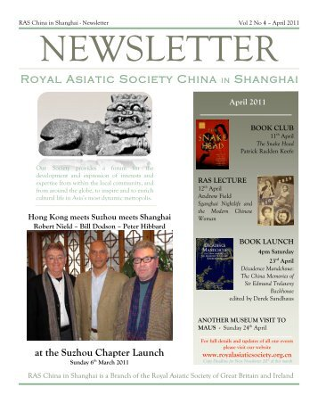 RAS 2011 April Newsletter - Royal Asiatic Society in Shanghai