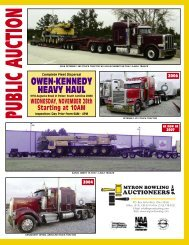 owen-kennedy heavy haul - Myron Bowling Auctioneers