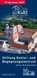Programm 2009 Stiftung Kultur - und Begegnungszentrum Abtei ...