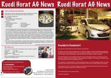 NEWS Dezember 2011 - Ruedi Horat AG