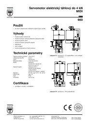 Servomotor elektrický táhlový do 4 kN MIDI 660 - MaR TRADE