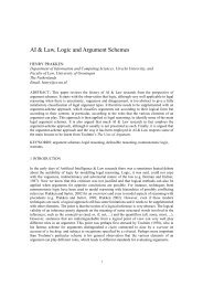 AI & Law, Logic and Argument Schemes - Department of Information ...