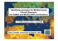 Identifying synergies for Mediterranean Climate Research ... - HyMeX