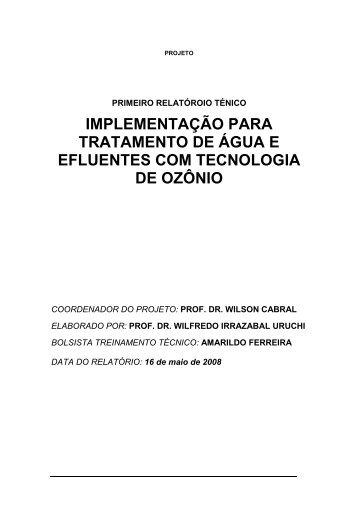 implementação para tratamento de água e efluentes com ... - Hidroaer