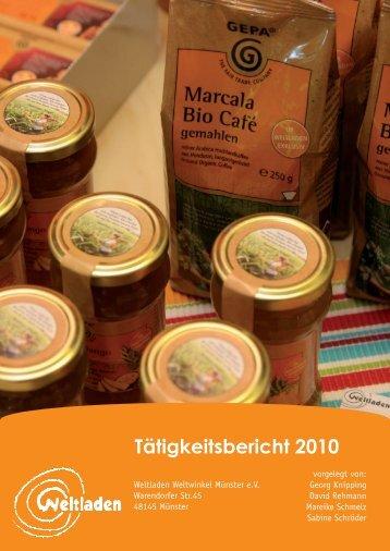 Tätigkeitsbericht 2010 - Weltladen Münster